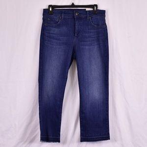NYDJ Capri Fringe Bottom Jeans (M59A)